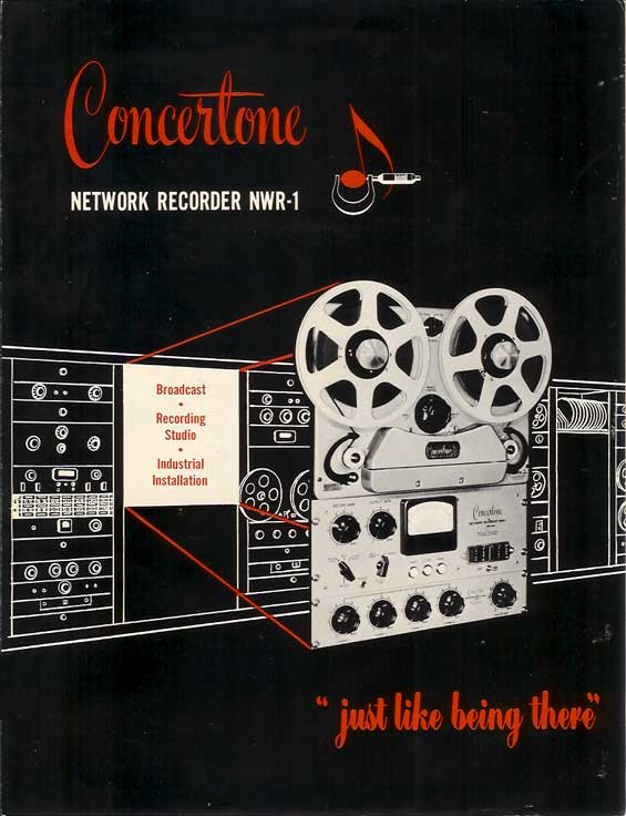1951 Concertone NWR-1 ad in Reel2ReelTexas.com's vintage reel tape recorder collection