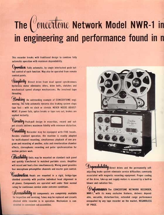 1951 brochure for Belant professional tape recorders in Reel2ReelTexas' vintage recording collection