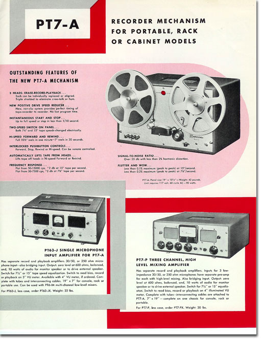 1951 brochure for Magnecord professional reel to reel tape recorders in Reel2ReelTexas.com's vintage recording collection