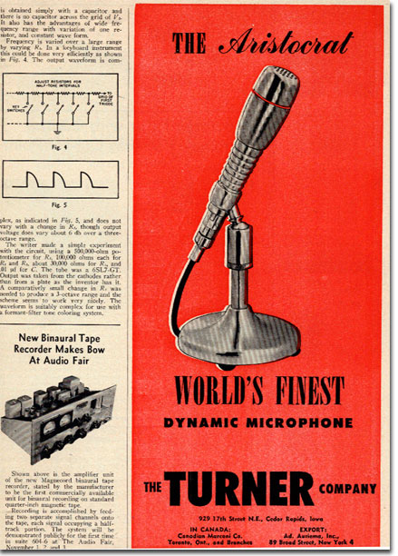 picture of 1951 Turner microphone ad