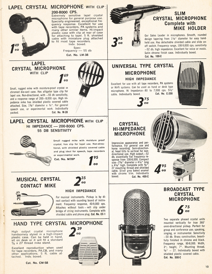 1962-1963 Calrad Electronics catalog in the Reel2ReelTexas.com's vintage recording collection