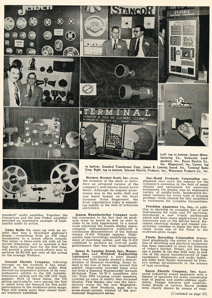 1952 IRE show review summary in Reel2ReelTexas.com's vintage recording collection