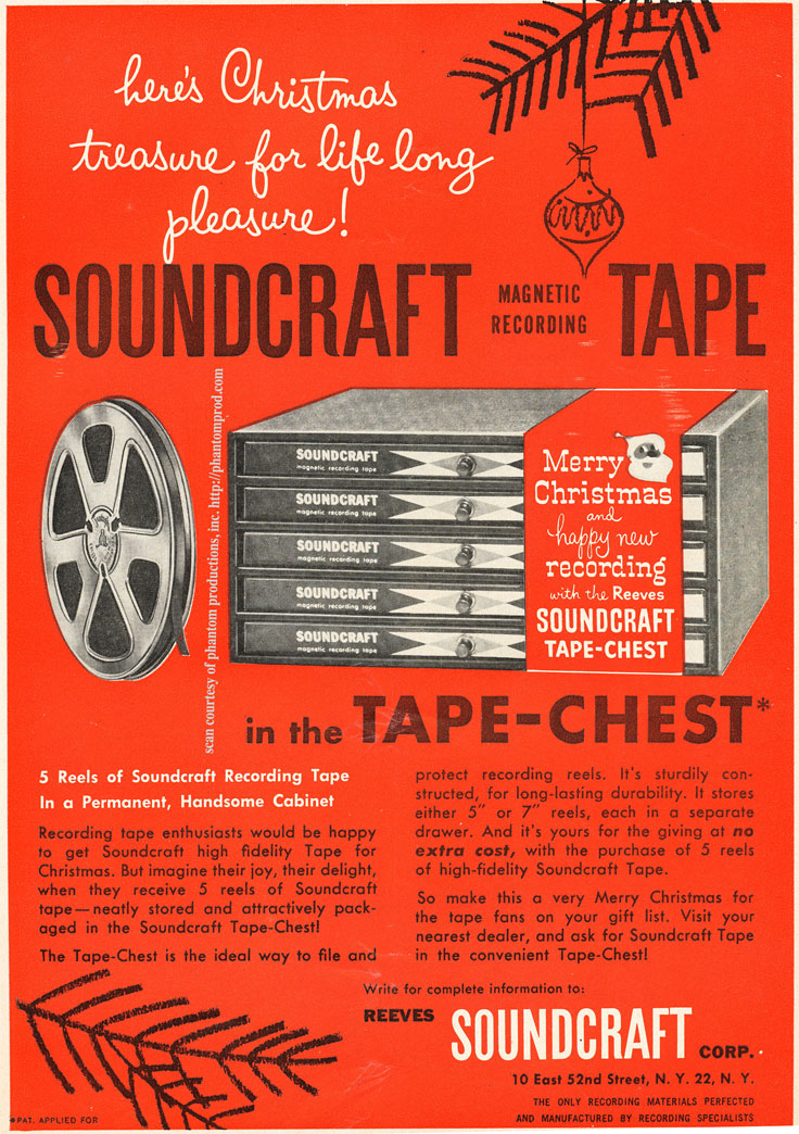 1952 ad for Reeves Soundcraft reel to reel recording tape  in Reel2ReelTexas.com's vintage recording collection