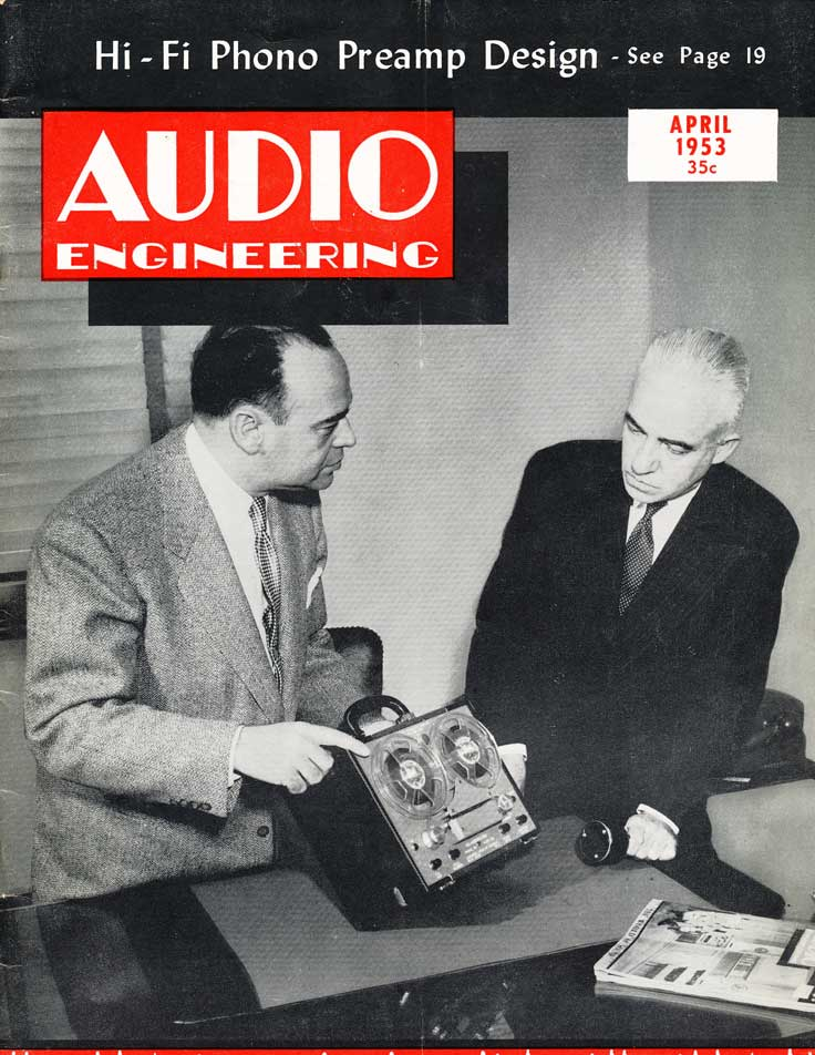 over of May 1953Audio Enginering magazine in Reel2ReelTexas.com's vintage recording collection