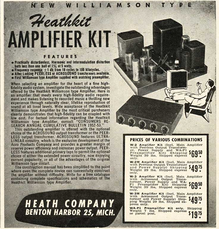 1953 Heathkit ad in Reel2ReelTexas.com's vintage recording collection