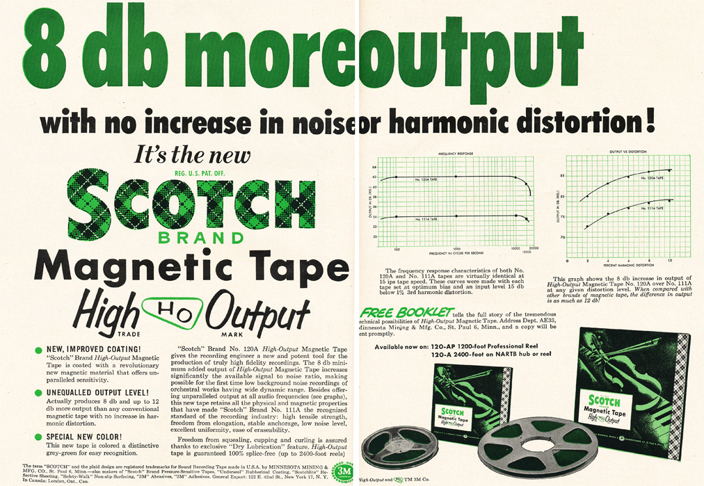1953 ad for Scotch reel to reel recording tape in Reel2ReelTexas.com's vintage recording collection