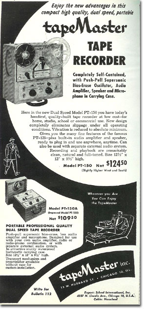 picture of 1953 Tape master ad