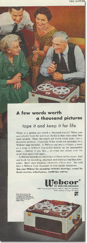 picture of 1953 Webcor ad
