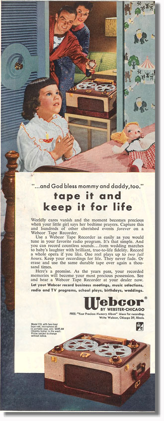pictue of 1953 Webcor ad