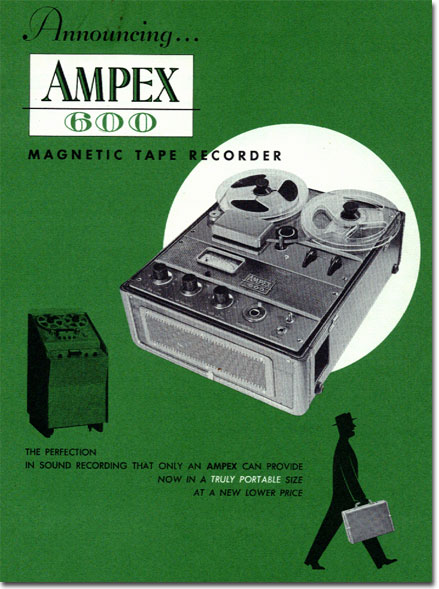 1954 ad for the Ampex 600 reel tape recorder in Reel2ReelTexas.com's vintage recording collection