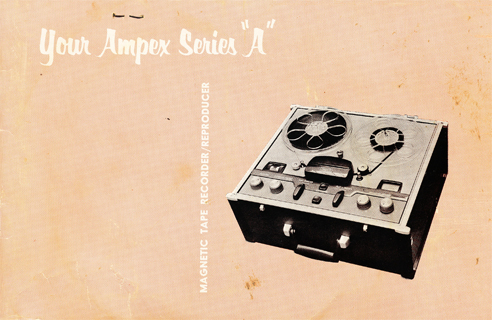 1954 Ampex 960 Manual in Reel2ReelTexas.com's vintage reel tape recorder collection
