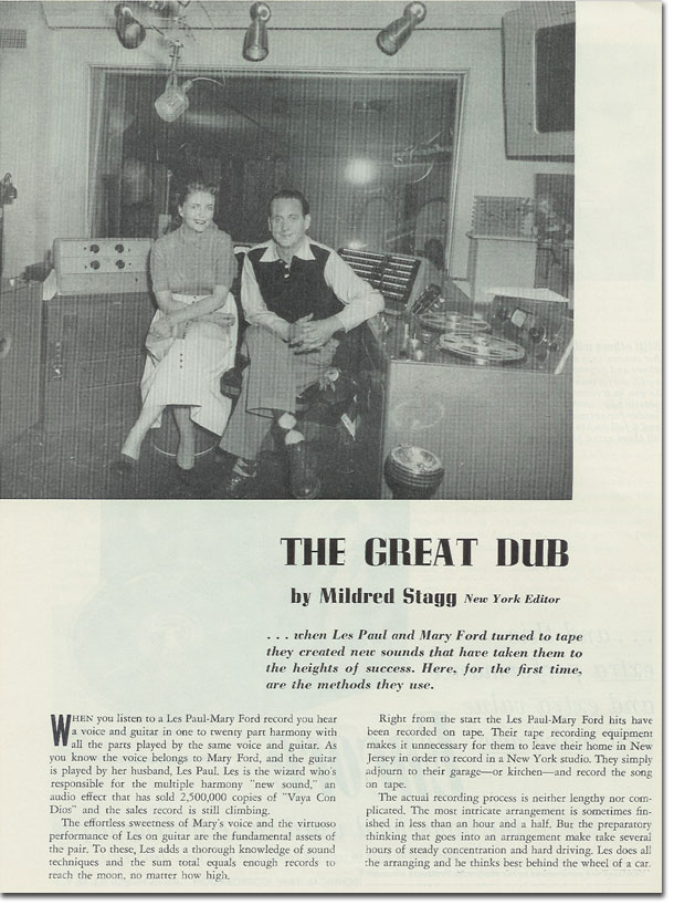 Les Paul and mary Ford from 1954 Tape Recording magazine
