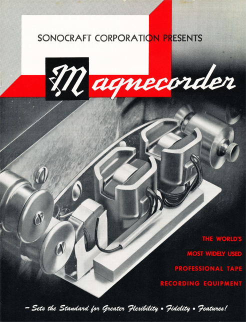 1954 Magnecord tape recorder brochure in Reel2ReelTexas.com's vintage recording collection