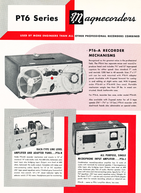 1954 Magnecord tape recorder brochure in Reel2ReelTexas.com's vintage recording collection page 3