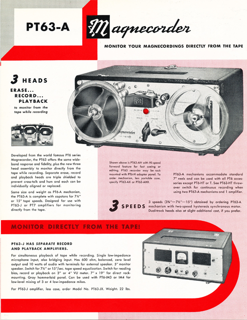 1954 Magnecord tape recorder brochure in Reel2ReelTexas.com's vintage recording collection page 4