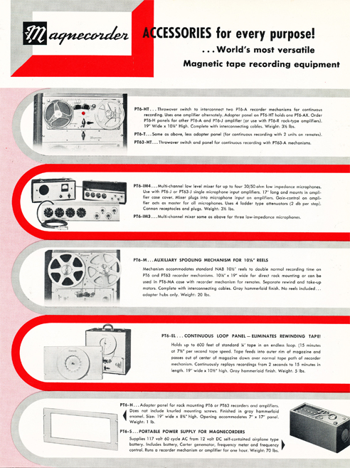 1954 Magnecord tape recorder brochure in Reel2ReelTexas.com's vintage recording collection page 5