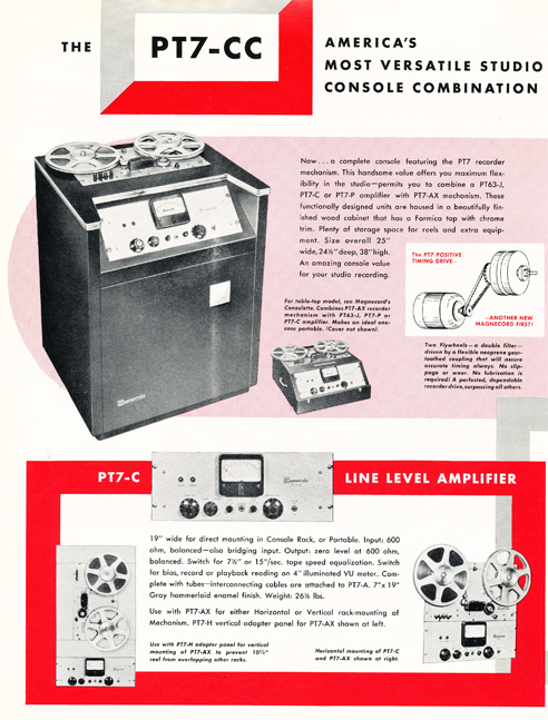 1954 Magnecord tape recorder brochure in Reel2ReelTexas.com's vintage recording collection page 6