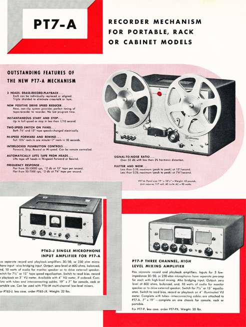 1954 Magnecord tape recorder brochure in Reel2ReelTexas.com's vintage recording collection page 7