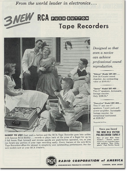 RCA ad from 1954 Tape Recording magazine