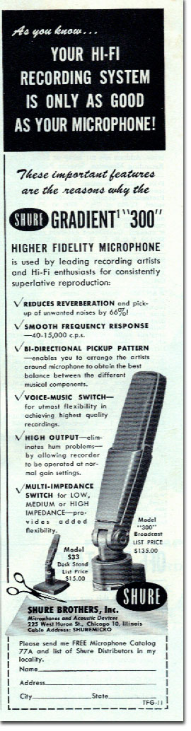 Shure ad in 1954