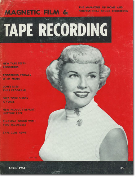 Tape Recording magazine with Doris Day from 1954