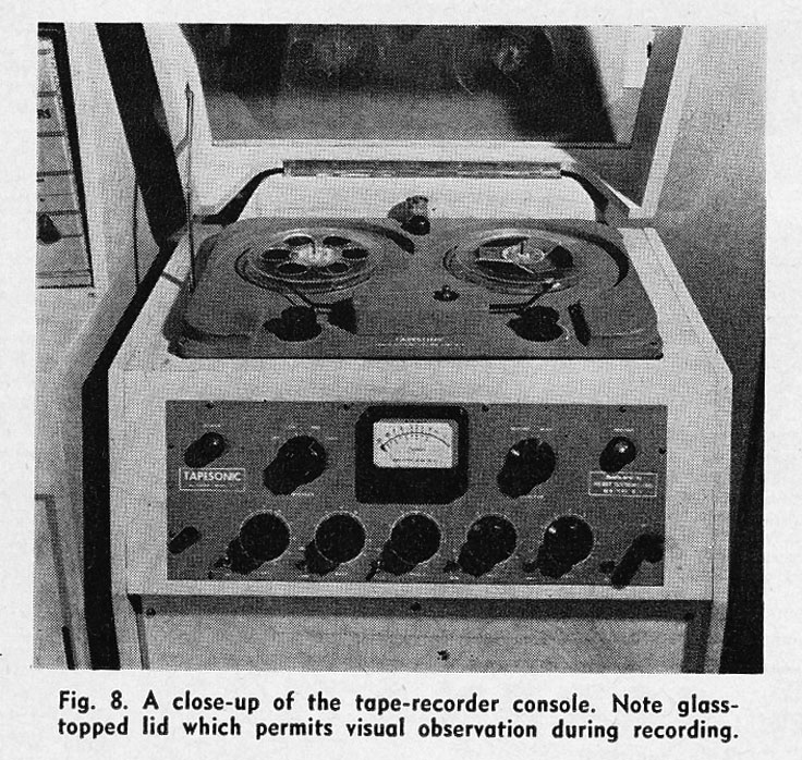1954 Tapesonic reel tape recorder installation in Reel2ReelTexas.com's vintage recording collection