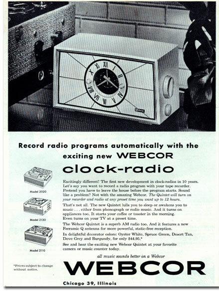 Webcor ad in 1954
