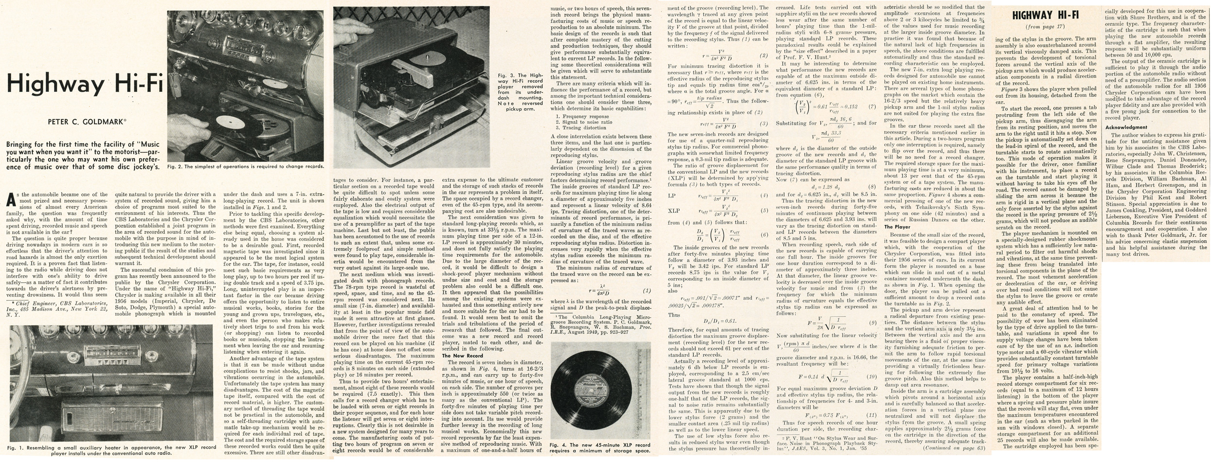 1955 article about an automobile record playing system