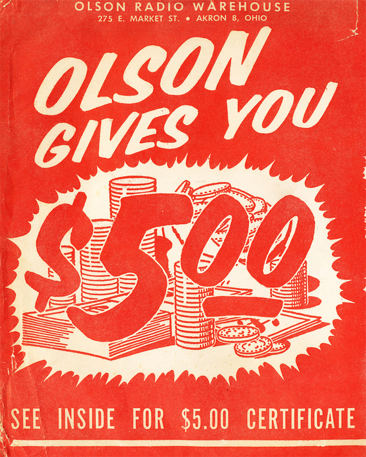 1955 Olson Radio catalog in Reel2ReelTexas.com's vintage recording collection
