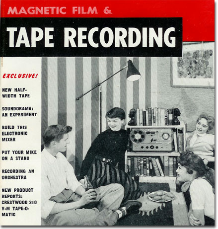 picture of 1955 Tape Recorder magazine cover