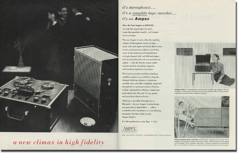 picture of Ampex ad from 1956