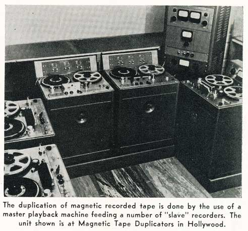 1956 picture of Ampex tape duplicators in Reel2ReelTexas.com's vintage recording collection