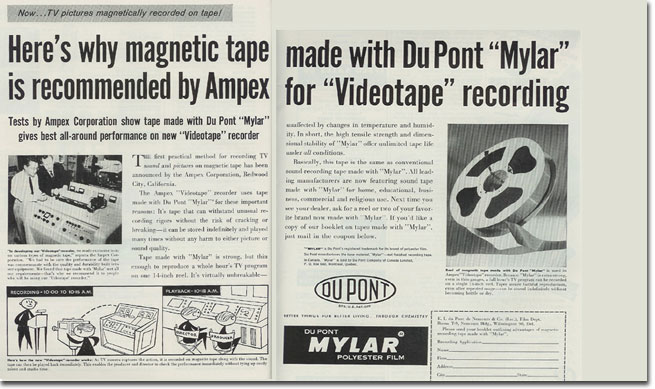 picture of DuPony Mylar ad from 1956 Tape Recording magazine