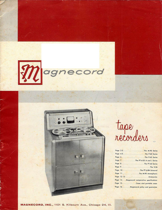 Magnecord M90 professional reel tape recorder ad in Reel2ReelTexas.com's vintage reel tape recorder collection