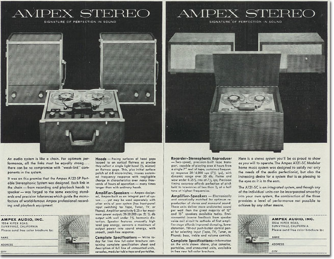 Ampex reel to reel tape recorder ad from 1957 in the Reel2ReelTexas.com's vintage recording collection