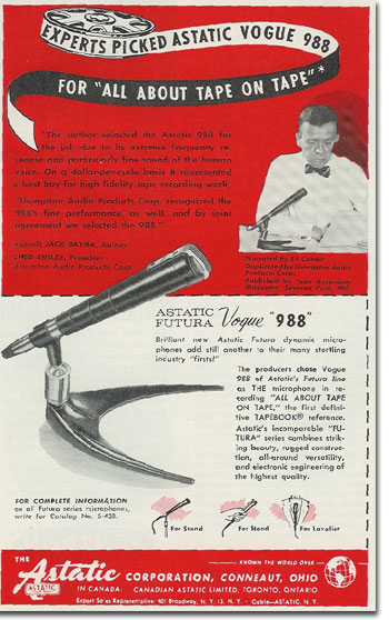 picture of Astatic microphone ad from 1957