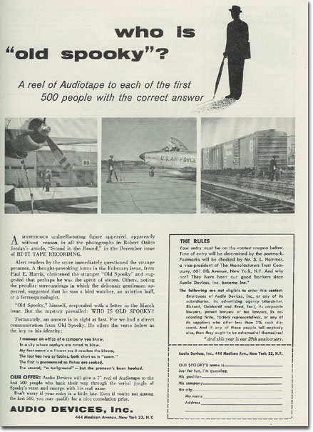 picture of Audiotape ad from 1957