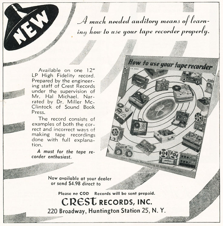 1957 Crest Records as in Reel2ReelTexas.com's vintage recording collection