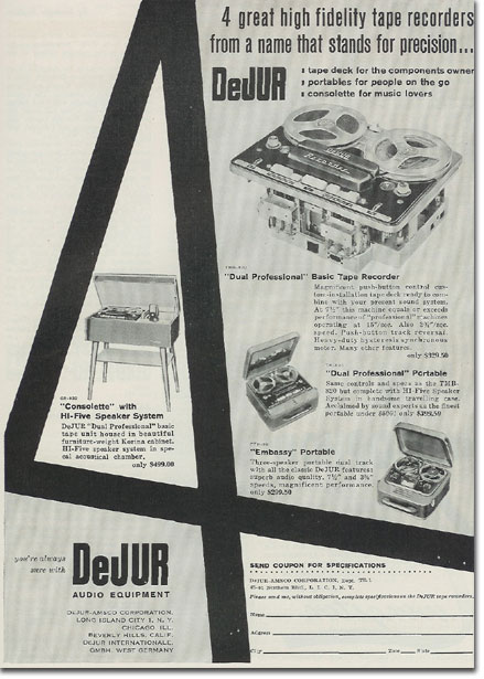 picture of DeJUR ad from 1957