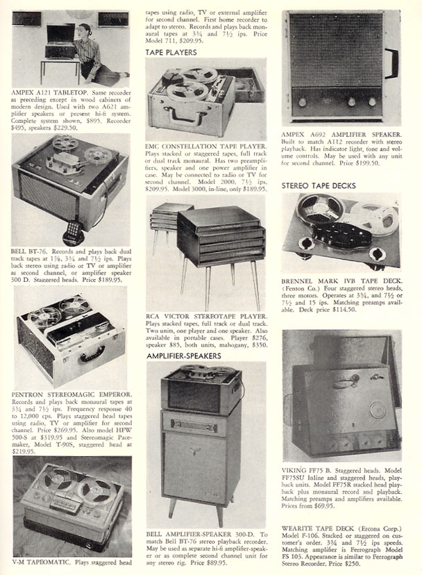 1957 Tape recorder directory in Reel2ReelTexas.com's vintage recording collection