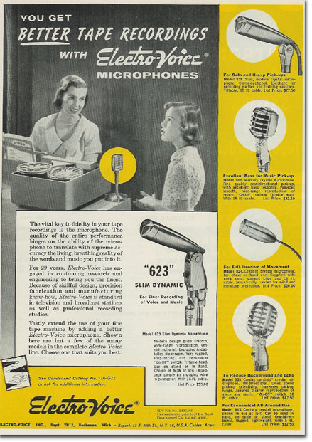 picture of Electro Voice ad from 1957
