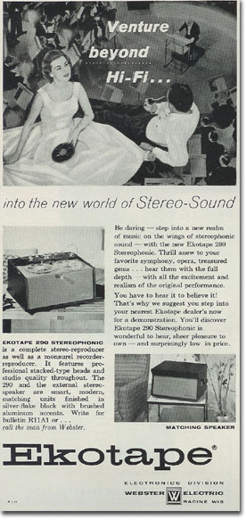 Ekotape recorder ad from 1957
