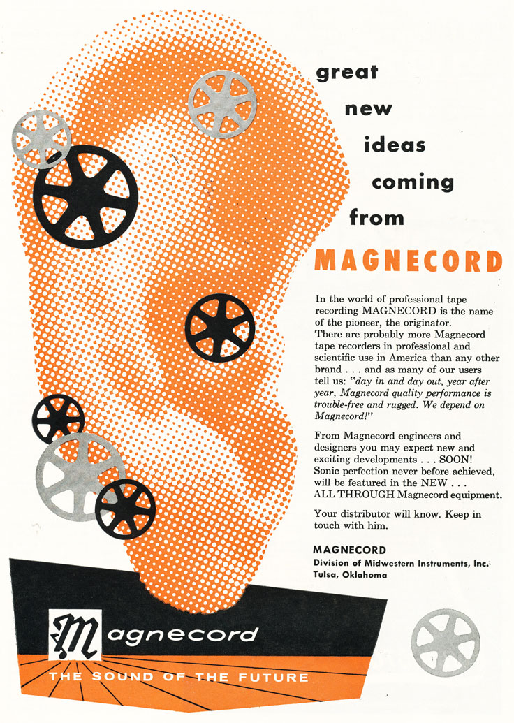 1957 Magnecord ad in Phantom Productions' vintage recording collection