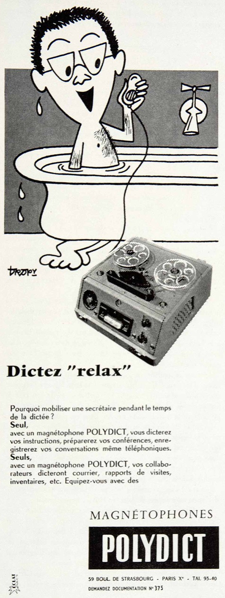1957 Magnetaphon ad in Phantom Productions' vintage recording collection