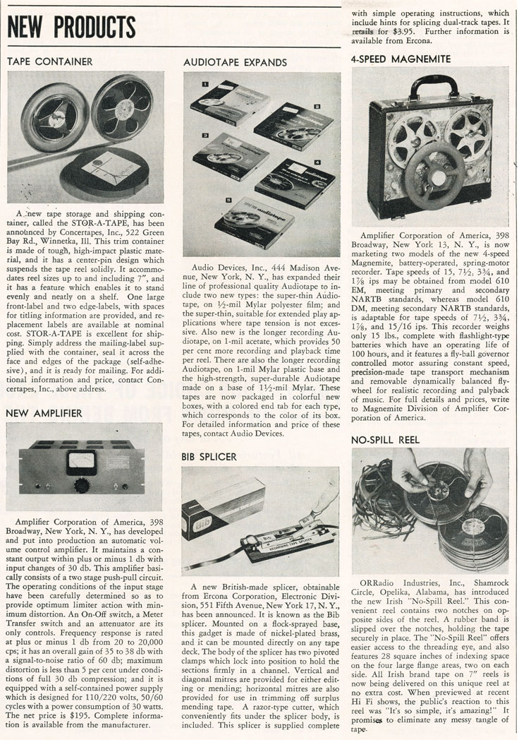 1957 New Products in Phantom Productions' vintage recording collection