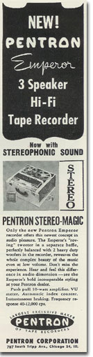 picture of Pentron recorder ad from 1957