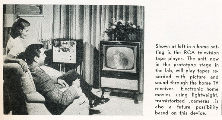 1957 picture showing the new RCA video recorder using magnetic tape in Phantom Productions' vintage recording collection