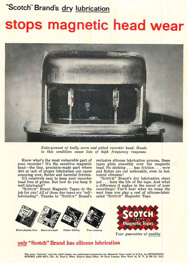 Scotch Recording tape ad from 1957 in the Reel2ReelTexas.com's vintage recording collection