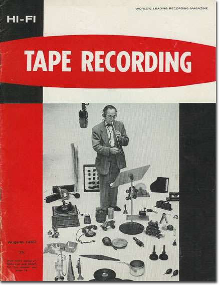 picture of cover of August Tape Recording magazine from 1957