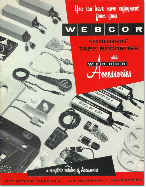 picture of 1957 Webcor accessories brochure